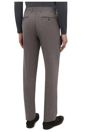 Мужские шерстяные брюки CANALI коричневого цвета, арт. 71019/AA02526 | Фото 4