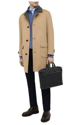 Мужская кожаная сумка для ноутбука SERAPIAN темно-синего цвета, арт. SRCCHMLL621838B | Фото 2