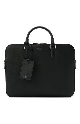 Мужская кожаная сумка для ноутбука evoluzione SERAPIAN темно-синего цвета, арт. SREVLMLL693437B | Фото 1