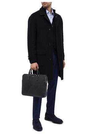 Мужская кожаная сумка для ноутбука evoluzione SERAPIAN темно-синего цвета, арт. SREVLMLL693437B | Фото 2