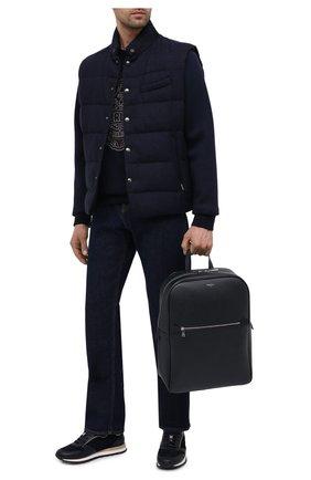 Мужской кожаный рюкзак evoluzione SERAPIAN темно-синего цвета, арт. SREVLMLL700631C | Фото 2