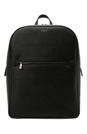 Мужской кожаный рюкзак evoluzione SERAPIAN черного цвета, арт. SREVLMLL700631C | Фото 1