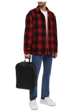 Мужской кожаный рюкзак evoluzione SERAPIAN черного цвета, арт. SREVLMLL700631C | Фото 2