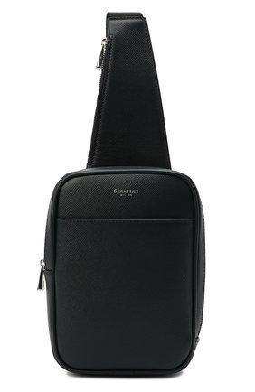 Мужской кожаный рюкзак evoluzione SERAPIAN темно-синего цвета, арт. SREVLMML716515A | Фото 1