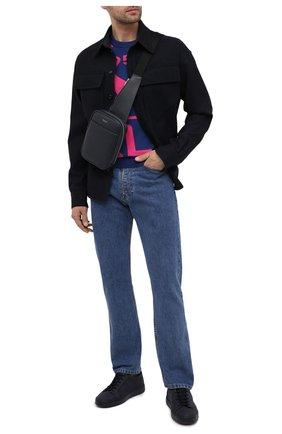 Мужской кожаный рюкзак evoluzione SERAPIAN темно-синего цвета, арт. SREVLMML716515A | Фото 2