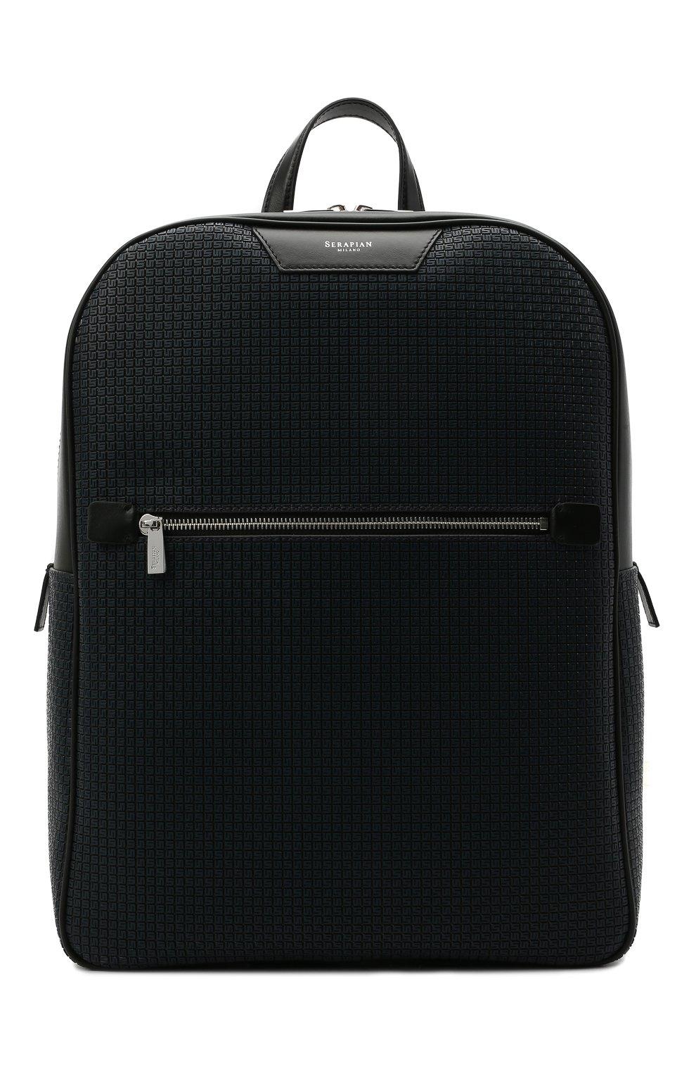 Мужской рюкзак stepan SERAPIAN темно-синего цвета, арт. SRSTPMLL700631D | Фото 1 (Материал: Экокожа)