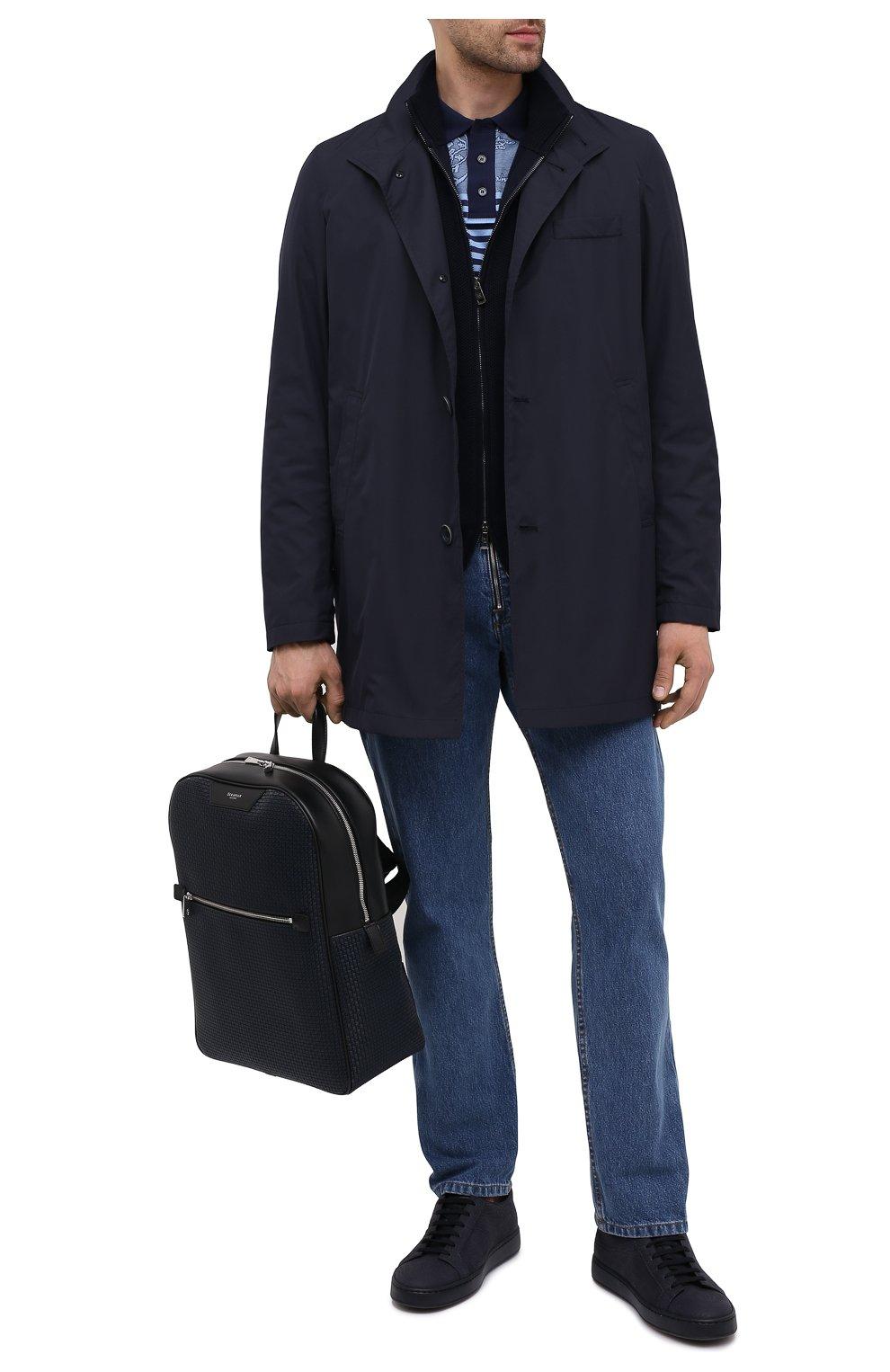 Мужской рюкзак stepan SERAPIAN темно-синего цвета, арт. SRSTPMLL700631D | Фото 2 (Материал: Экокожа)