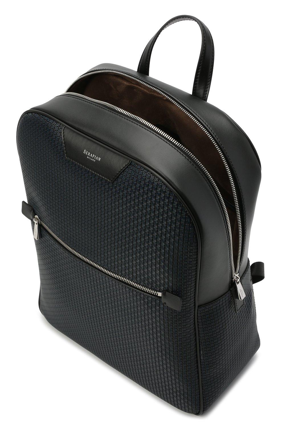 Мужской рюкзак stepan SERAPIAN темно-синего цвета, арт. SRSTPMLL700631D | Фото 4 (Материал: Экокожа)