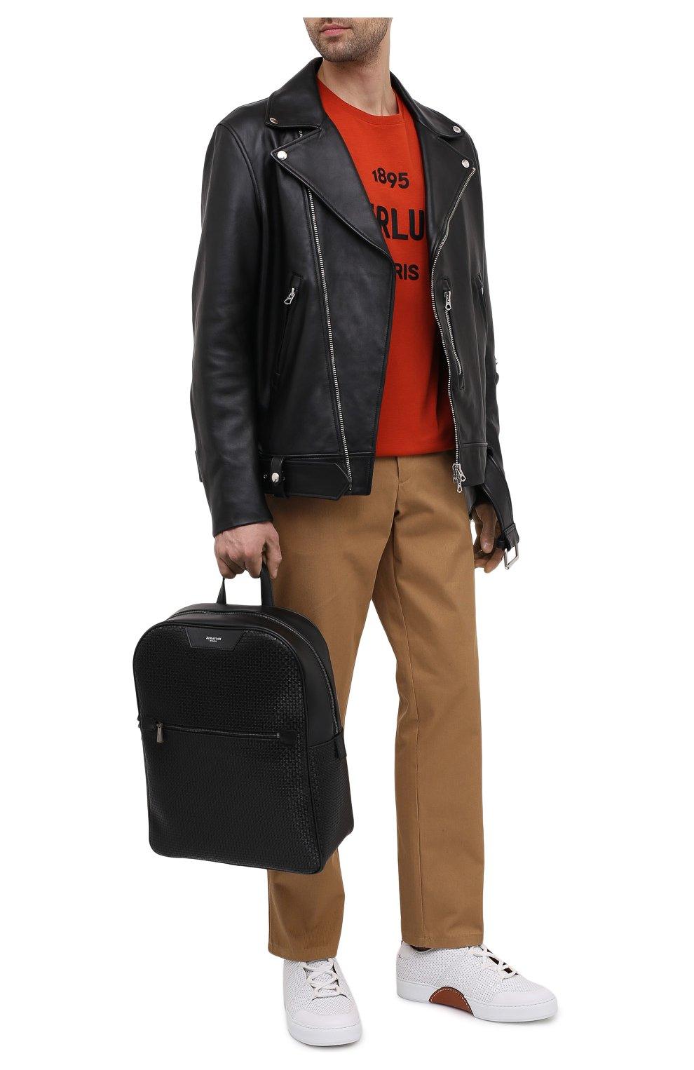 Мужской рюкзак stepan SERAPIAN черного цвета, арт. SRSTPMLL700631D   Фото 2 (Материал: Экокожа)
