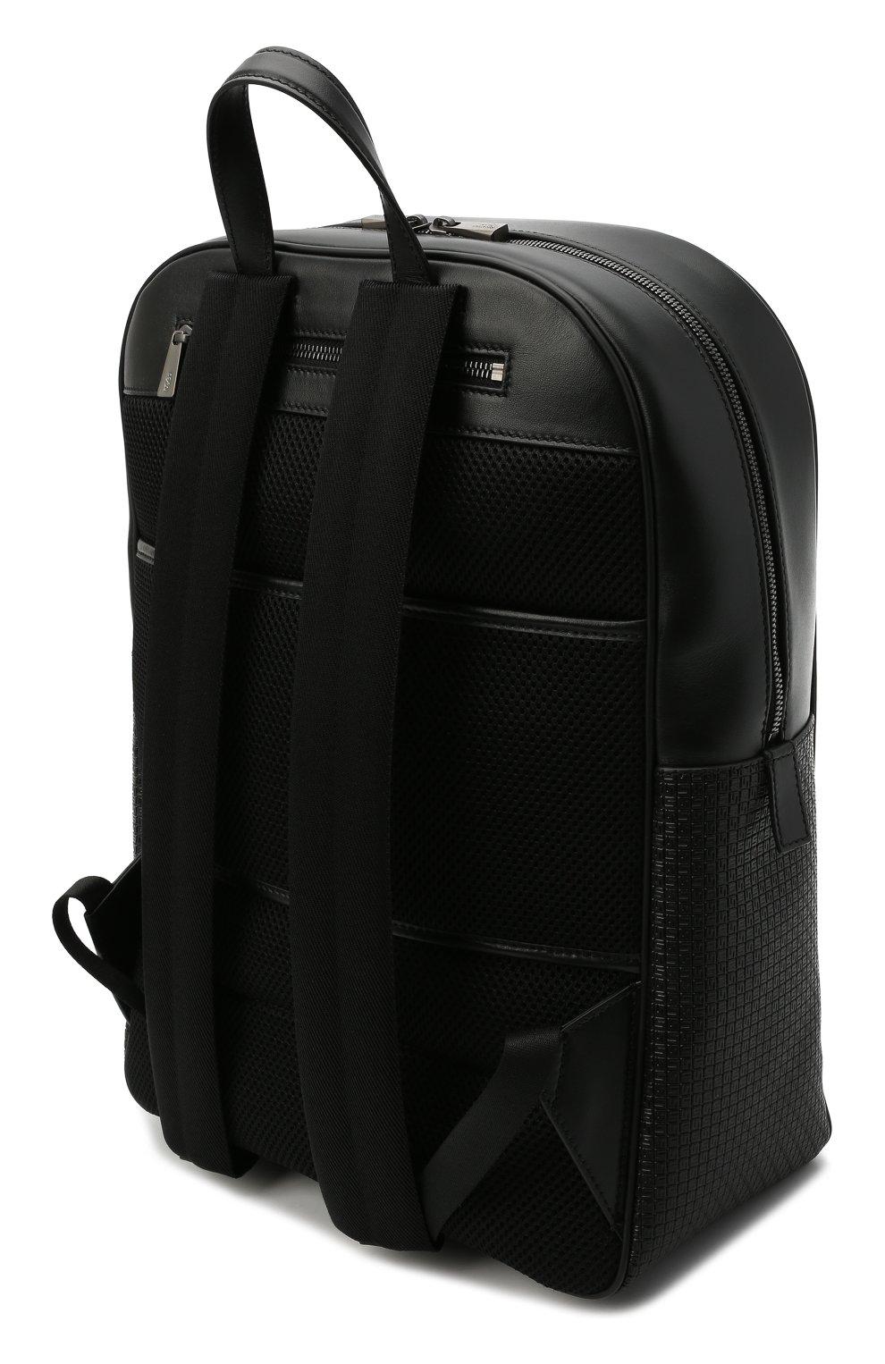 Мужской рюкзак stepan SERAPIAN черного цвета, арт. SRSTPMLL700631D   Фото 3 (Материал: Экокожа)