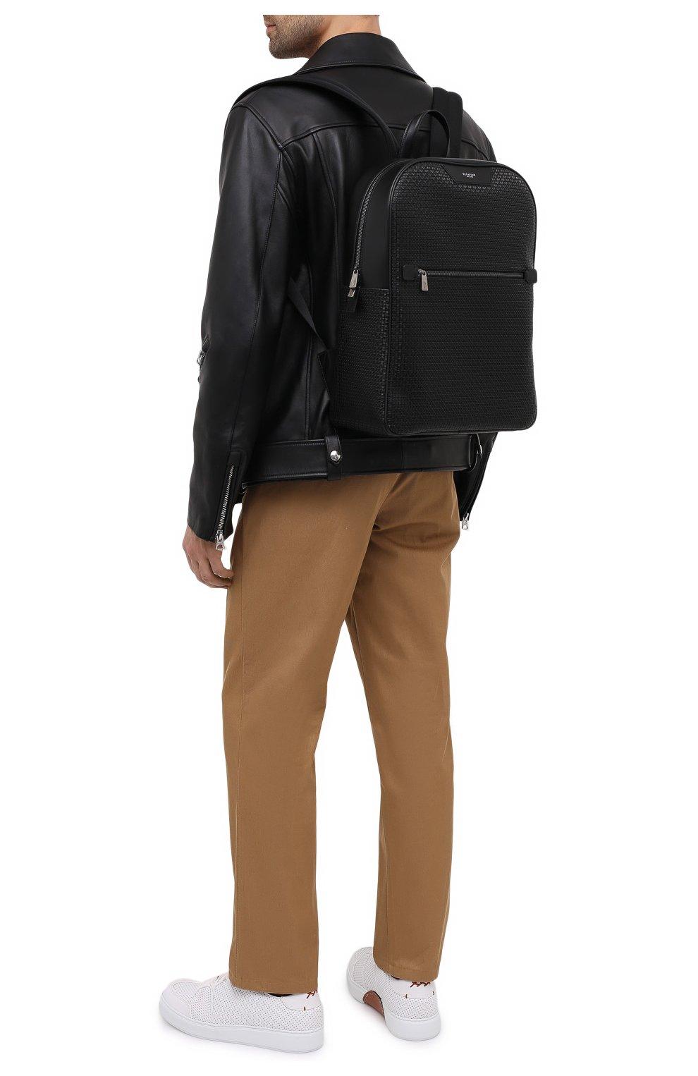 Мужской рюкзак stepan SERAPIAN черного цвета, арт. SRSTPMLL700631D   Фото 5 (Материал: Экокожа)