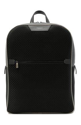 Мужской рюкзак stepan SERAPIAN черного цвета, арт. SRSTPMLL700631D | Фото 1