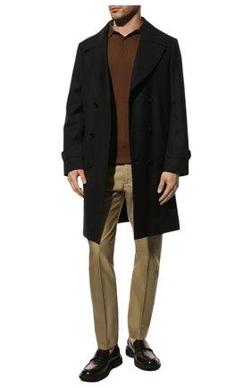 Мужские хлопковые брюки TOM FORD бежевого цвета, арт. BW141/TFP224 | Фото 2