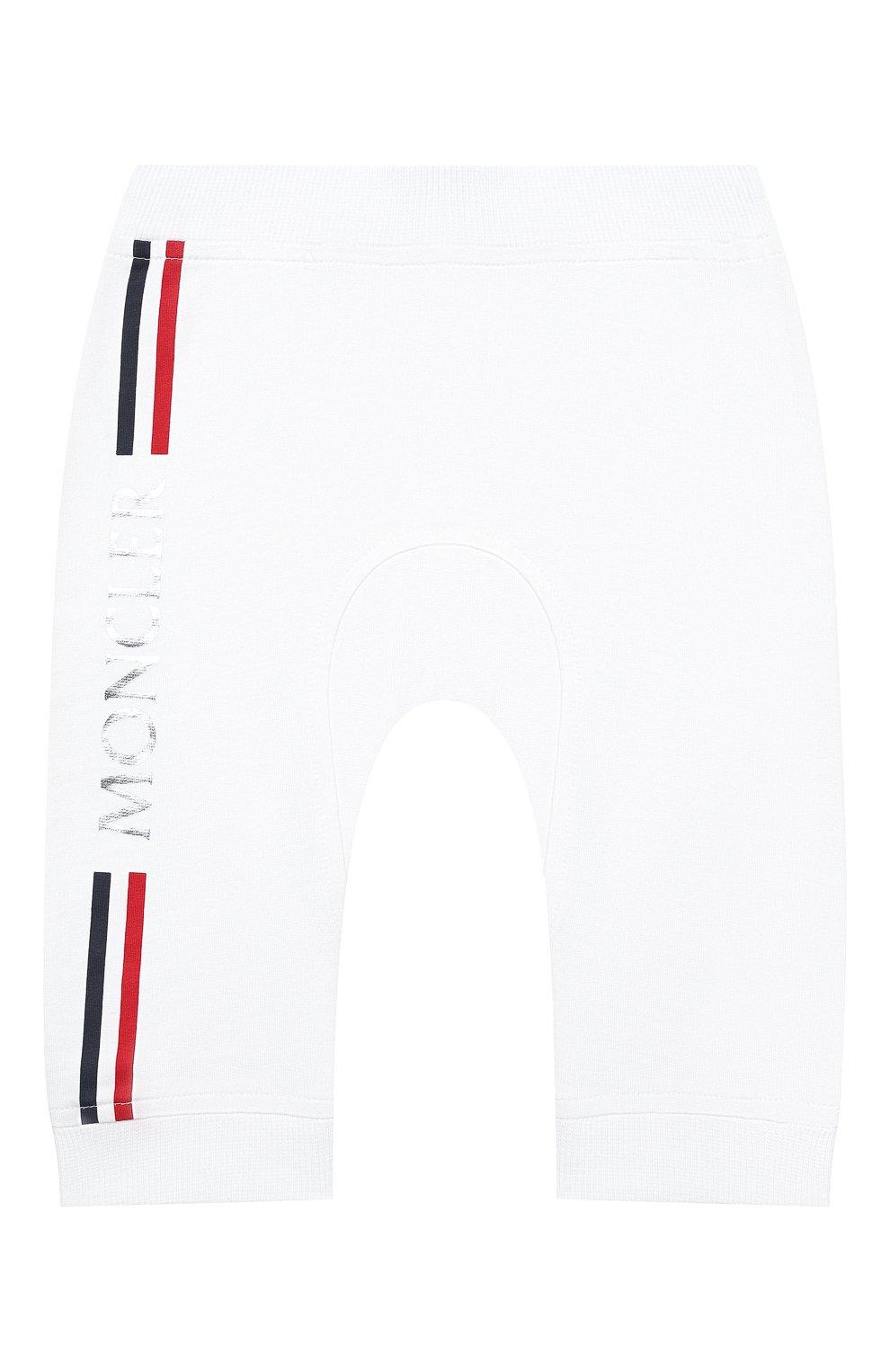 Детский комплект из толстовки и брюк MONCLER белого цвета, арт. G1-951-8M736-00-899AR | Фото 5