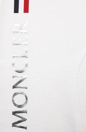 Детский комплект из толстовки и брюк MONCLER белого цвета, арт. G1-951-8M736-00-899AR | Фото 7
