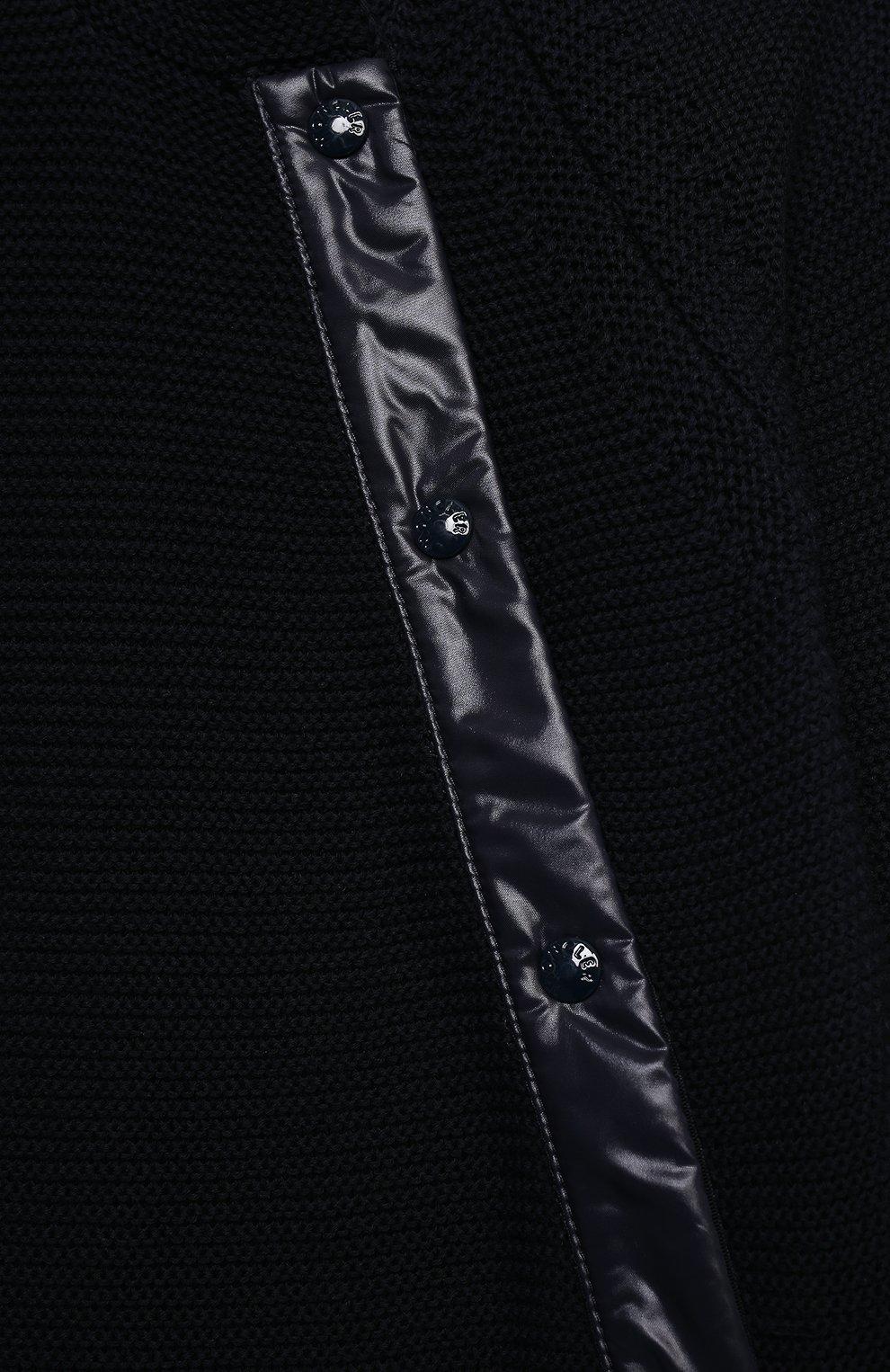 Детский хлопковый комбинезон MONCLER темно-синего цвета, арт. G1-951-9M700-00-V9150 | Фото 3