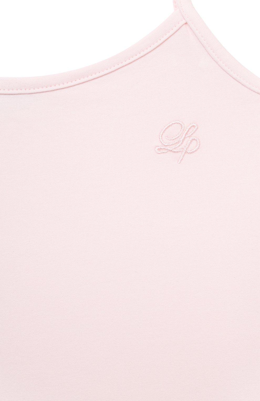 Детская майка LA PERLA розового цвета, арт. 51035/2A-6A   Фото 3