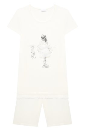 Детская пижама LA PERLA бежевого цвета, арт. 70061/8A-14A | Фото 1
