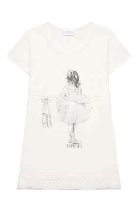 Детская пижама LA PERLA бежевого цвета, арт. 70061/2A-6A | Фото 2