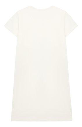 Детская ночная сорочка LA PERLA бежевого цвета, арт. 70063/2A-6A | Фото 2