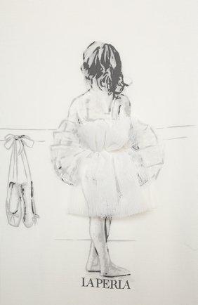 Детская ночная сорочка LA PERLA бежевого цвета, арт. 70063/2A-6A | Фото 3