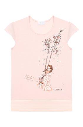 Детская пижама LA PERLA розового цвета, арт. 70141/8A-14A | Фото 2