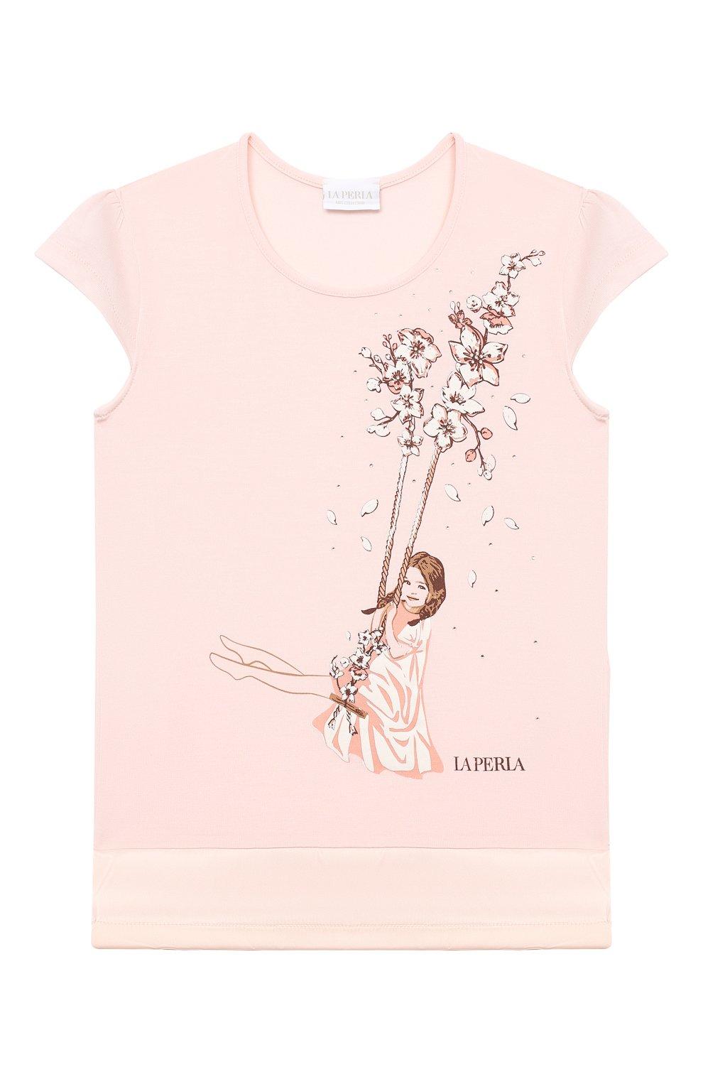 Детская пижама LA PERLA розового цвета, арт. 70141/2A-6A   Фото 2