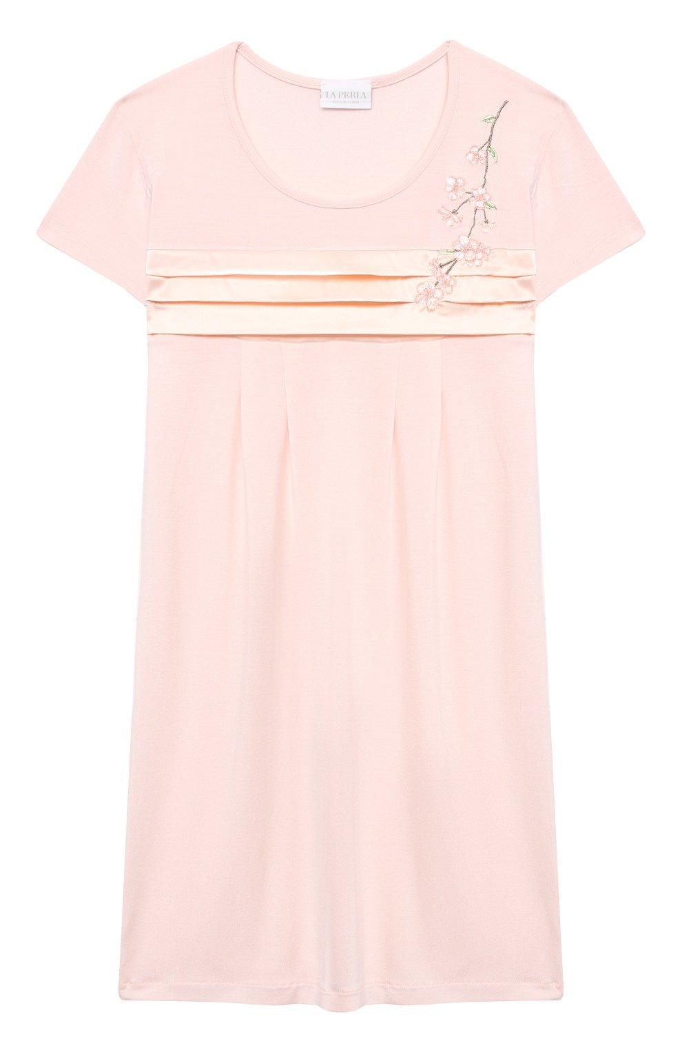 Детская ночная сорочка LA PERLA розового цвета, арт. 70143/2A-6A   Фото 1