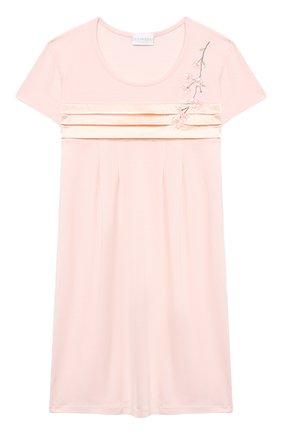 Детская ночная сорочка LA PERLA розового цвета, арт. 70143/2A-6A | Фото 1