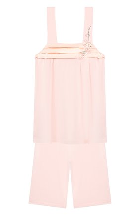Детская пижама LA PERLA розового цвета, арт. 70151/2A-6A | Фото 1