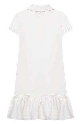 Детское хлопковое платье POLO RALPH LAUREN белого цвета, арт. 312812021 | Фото 2