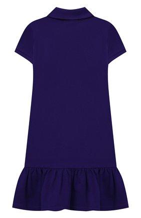 Детское хлопковое платье POLO RALPH LAUREN темно-синего цвета, арт. 312812021 | Фото 2