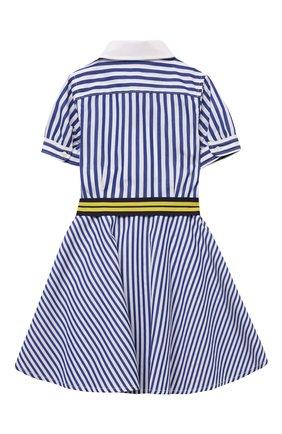 Детское хлопковое платье POLO RALPH LAUREN голубого цвета, арт. 312833014 | Фото 2