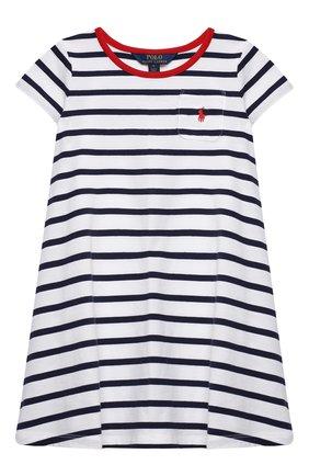 Детское хлопковое платье POLO RALPH LAUREN разноцветного цвета, арт. 312837202 | Фото 1