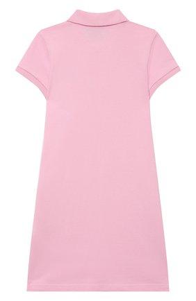 Детское хлопковое платье POLO RALPH LAUREN светло-розового цвета, арт. 313812021 | Фото 2