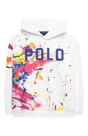 Детский хлопковое худи POLO RALPH LAUREN разноцветного цвета, арт. 313833559 | Фото 1