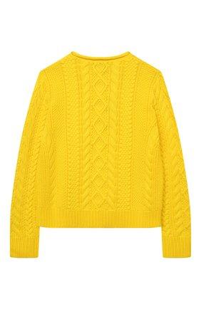 Детский хлопковый пуловер POLO RALPH LAUREN желтого цвета, арт. 313834968 | Фото 2