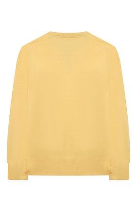 Детский хлопковый пуловер POLO RALPH LAUREN желтого цвета, арт. 323799887 | Фото 2
