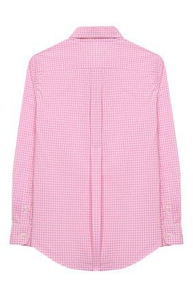 Детская хлопковая рубашка RALPH LAUREN розового цвета, арт. 323833517 | Фото 2 (Материал внешний: Хлопок; Случай: Повседневный; Рукава: Длинные; Ростовка одежда: 13 - 15 лет | 158 см, 10 - 11 лет | 140 - 146см, 9 лет | 134 см, 16 лет | 164 см)