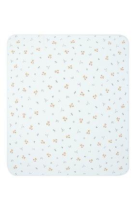 Детского хлопковое одеяло POLO RALPH LAUREN голубого цвета, арт. 320833485 | Фото 2