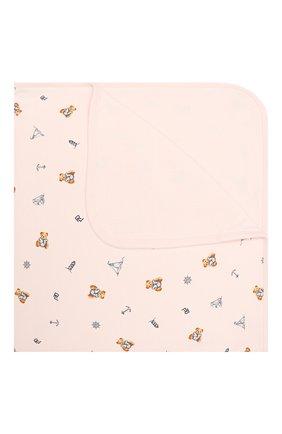 Детского хлопковое одеяло POLO RALPH LAUREN розового цвета, арт. 310833442   Фото 1