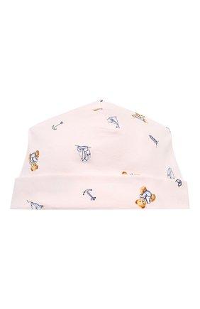 Детского хлопковая шапка POLO RALPH LAUREN розового цвета, арт. 310833441 | Фото 1