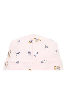 Детского хлопковая шапка POLO RALPH LAUREN розового цвета, арт. 310833441 | Фото 2