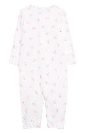 Детский хлопковый комбинезон POLO RALPH LAUREN розового цвета, арт. 310833426 | Фото 2