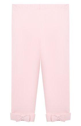 Детские хлопковые брюки POLO RALPH LAUREN розового цвета, арт. 310614342 | Фото 1