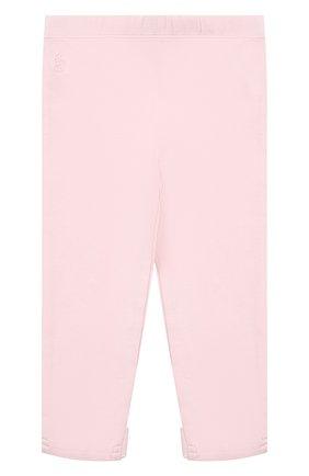 Детские хлопковые брюки POLO RALPH LAUREN розового цвета, арт. 310614342 | Фото 2