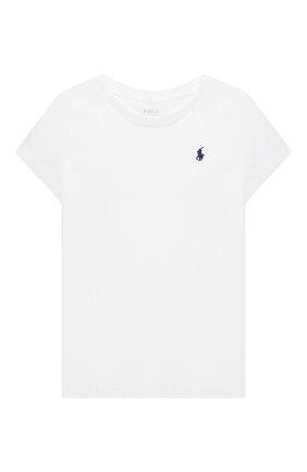 Детская хлопковая футболка POLO RALPH LAUREN белого цвета, арт. 311833549 | Фото 1