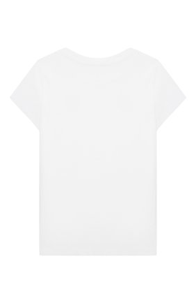 Детская хлопковая футболка POLO RALPH LAUREN белого цвета, арт. 311833549 | Фото 2