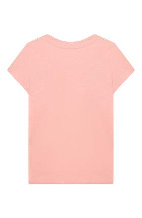 Детская хлопковая футболка POLO RALPH LAUREN розового цвета, арт. 311833549 | Фото 2