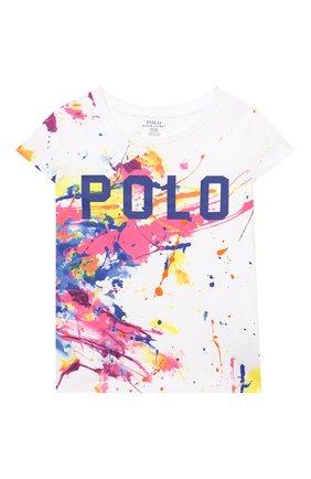 Детская хлопковая футболка POLO RALPH LAUREN разноцветного цвета, арт. 311833551 | Фото 1